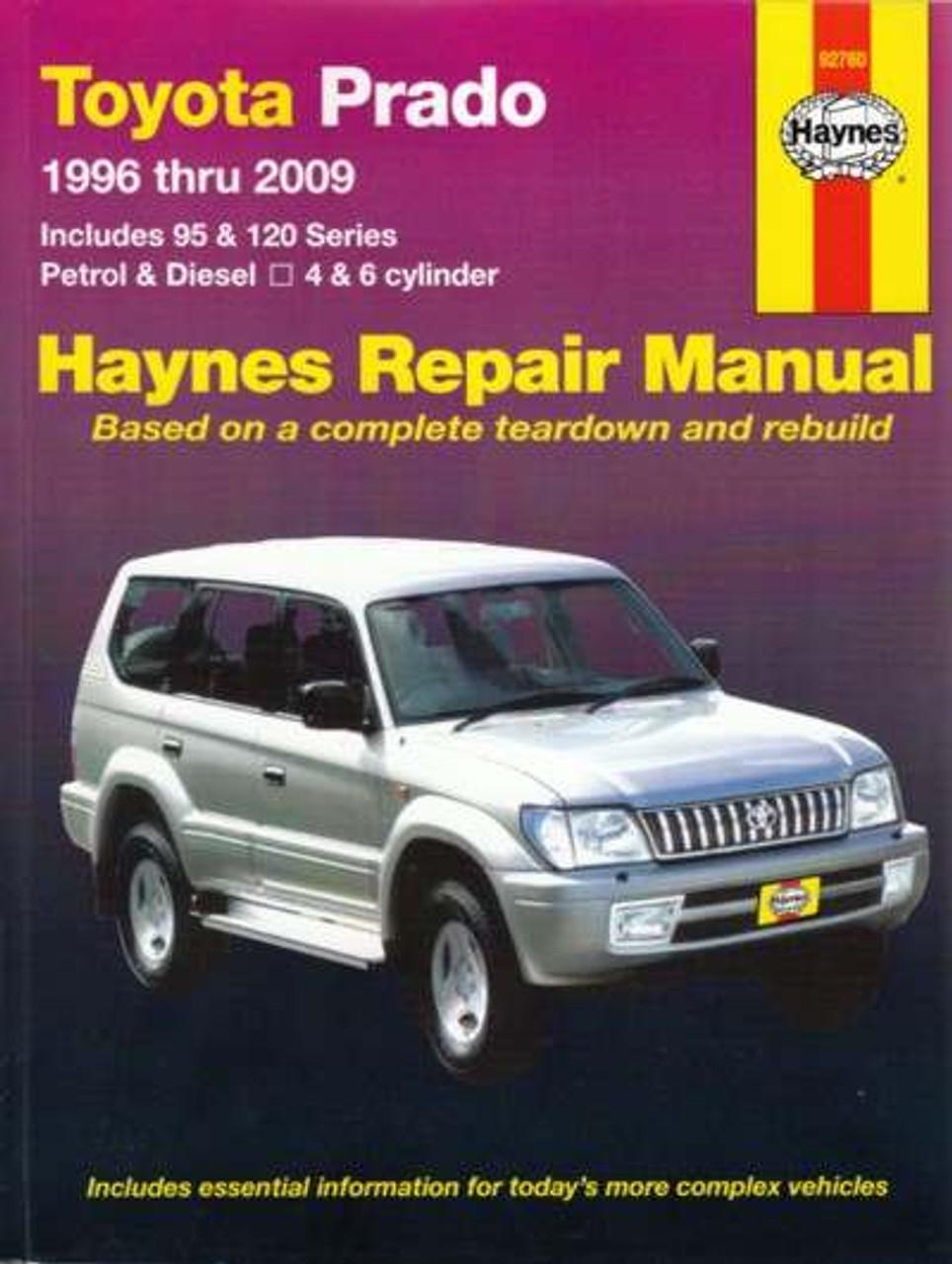 toyota prado 95 series workshop manual