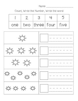 number words 1 10 worksheets pdf