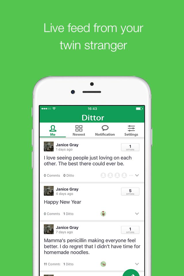 twin strangers application