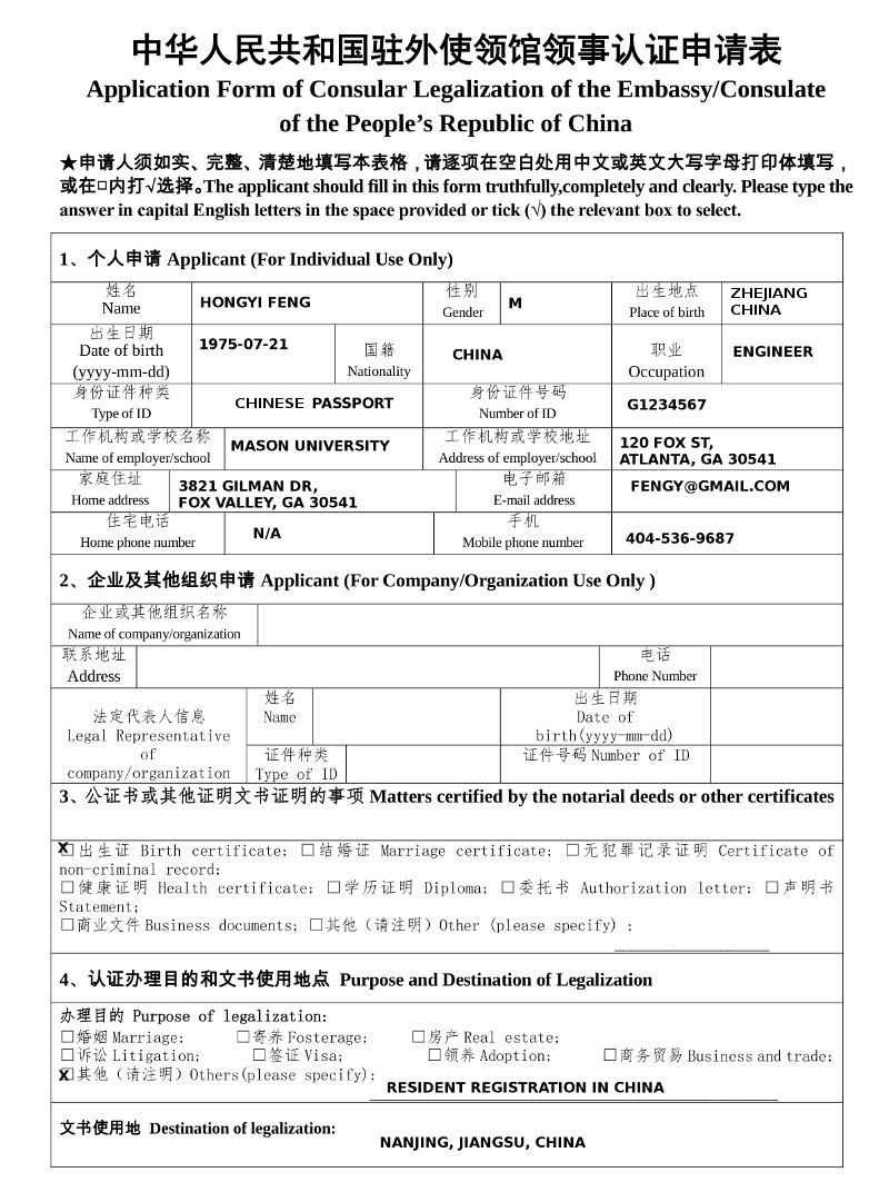 sample filled south africa visa application form