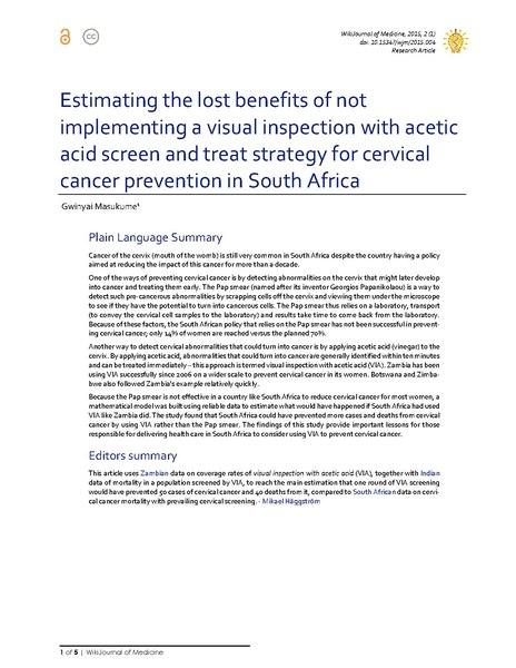 prevention of cervical cancer pdf