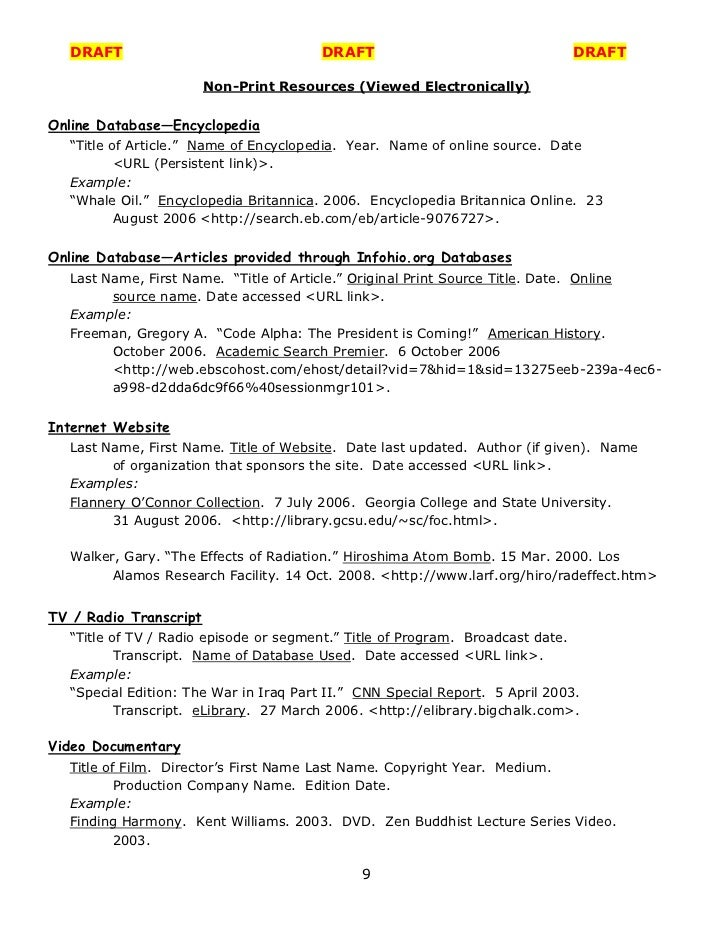 mla citation guide examples