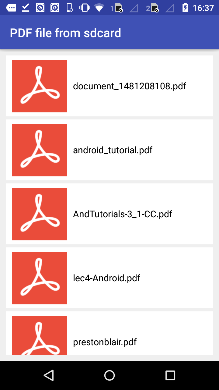 open pdf file in android
