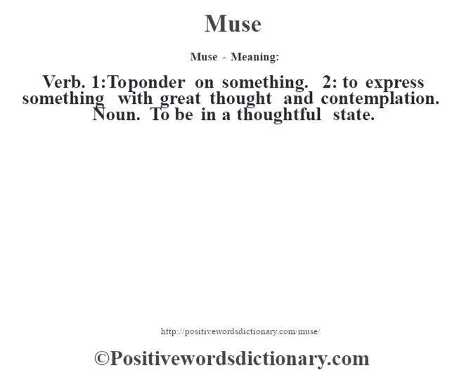 muse meaning urban dictionary