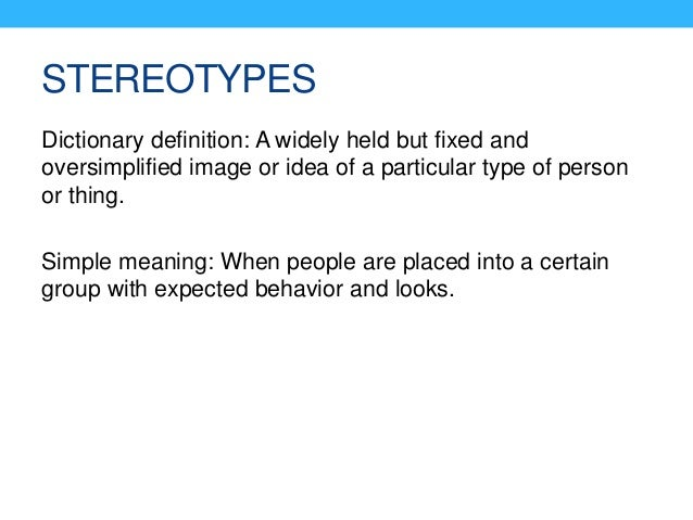 stereotype definition dictionary