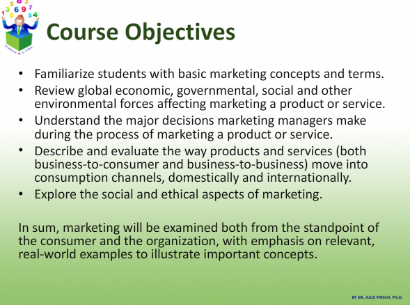 objectives of marketing pdf