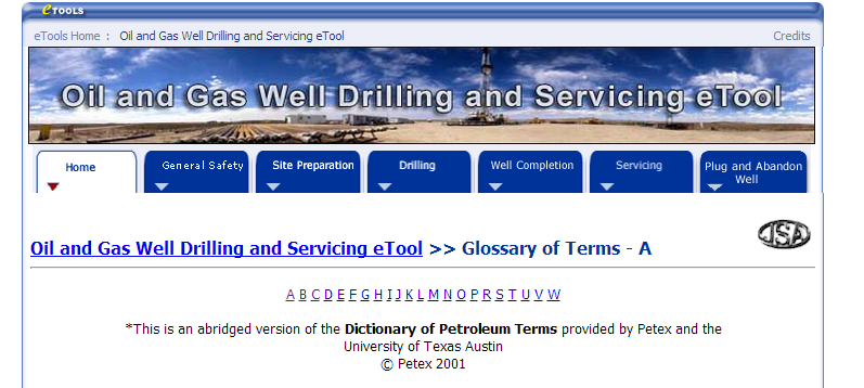 oil and gas terminology dictionary