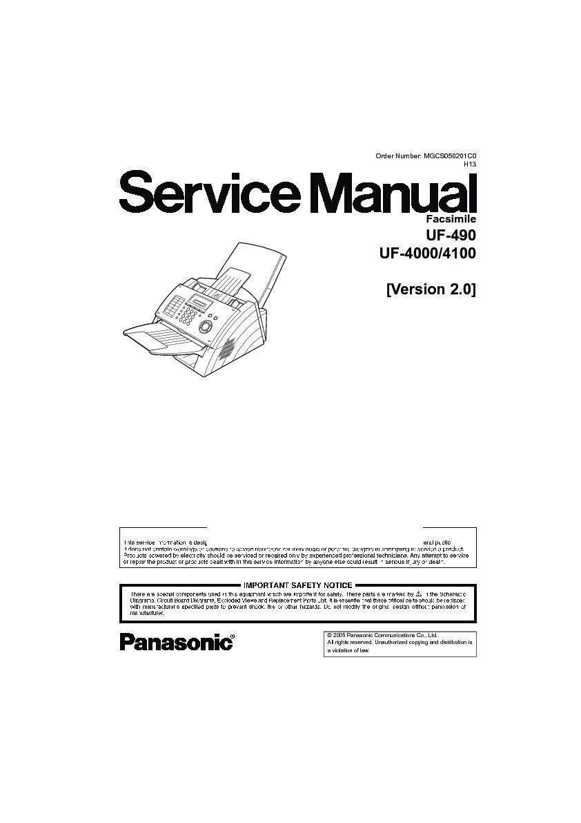 panasonic max 4000 manual