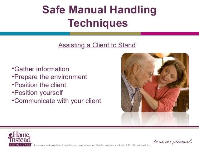 what is manual handling in nursing