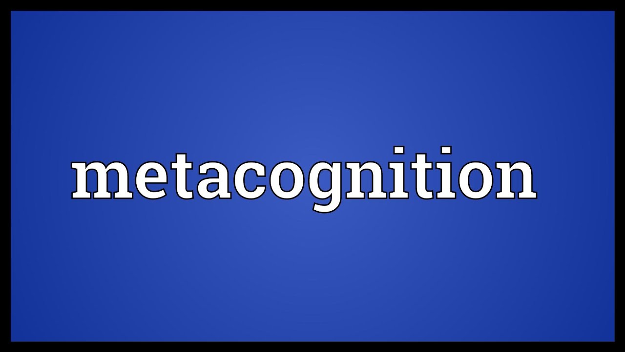 metacognition dictionary
