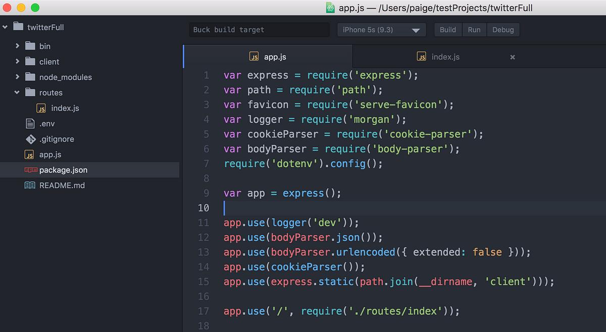 sample node js read me file