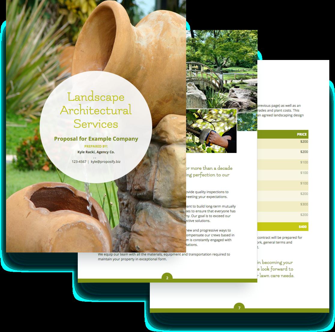 sample landscaping proposal