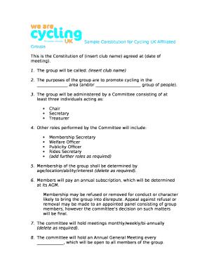 sample constitution of shareholders