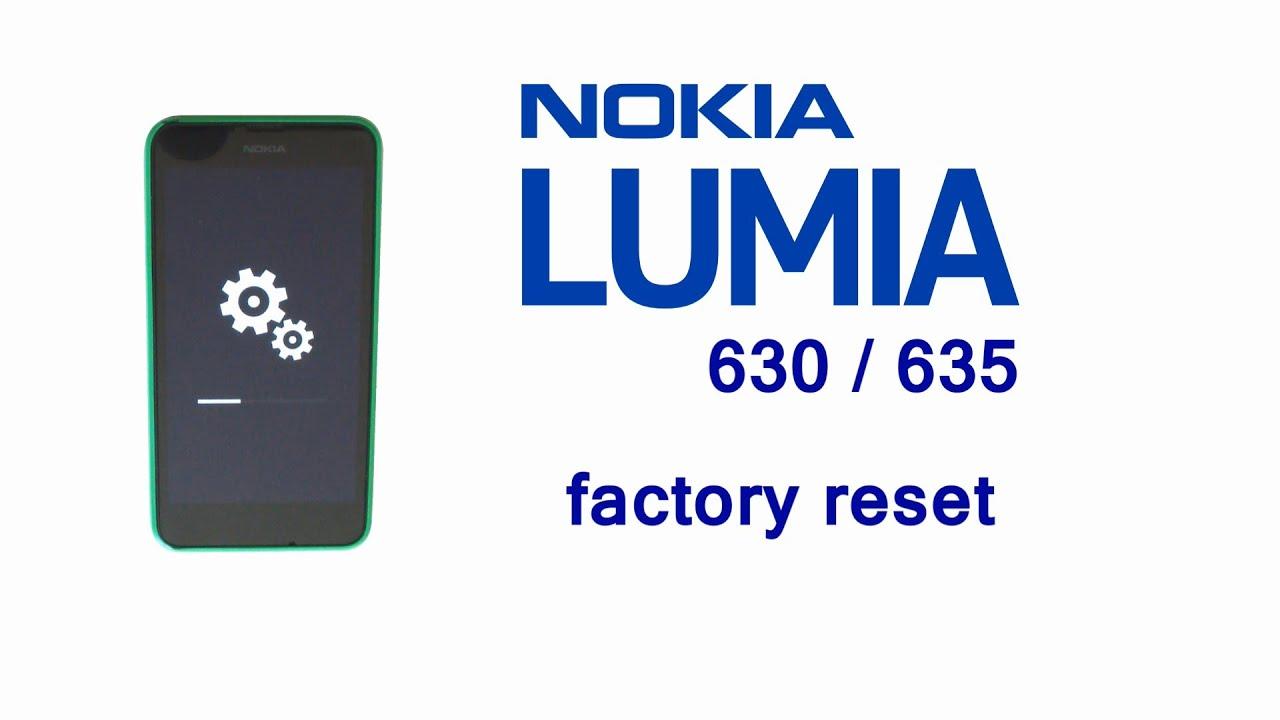 nokia lumia 635 manual reset