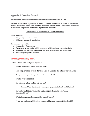 semi structured interview pdf