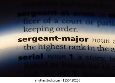 sergeant dictionary
