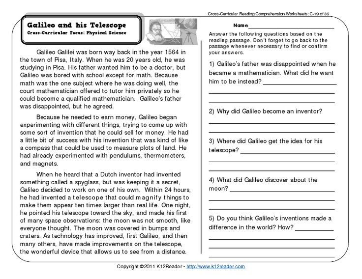 reading passages with questions pdf