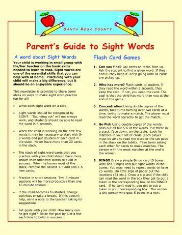 sight word activities pdf