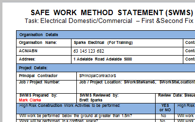 safe work method statement electrical pdf