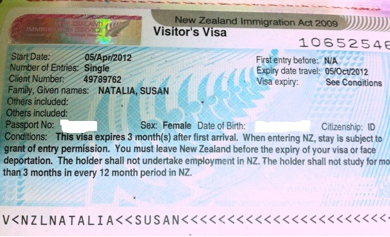 new zealand visa application singapore