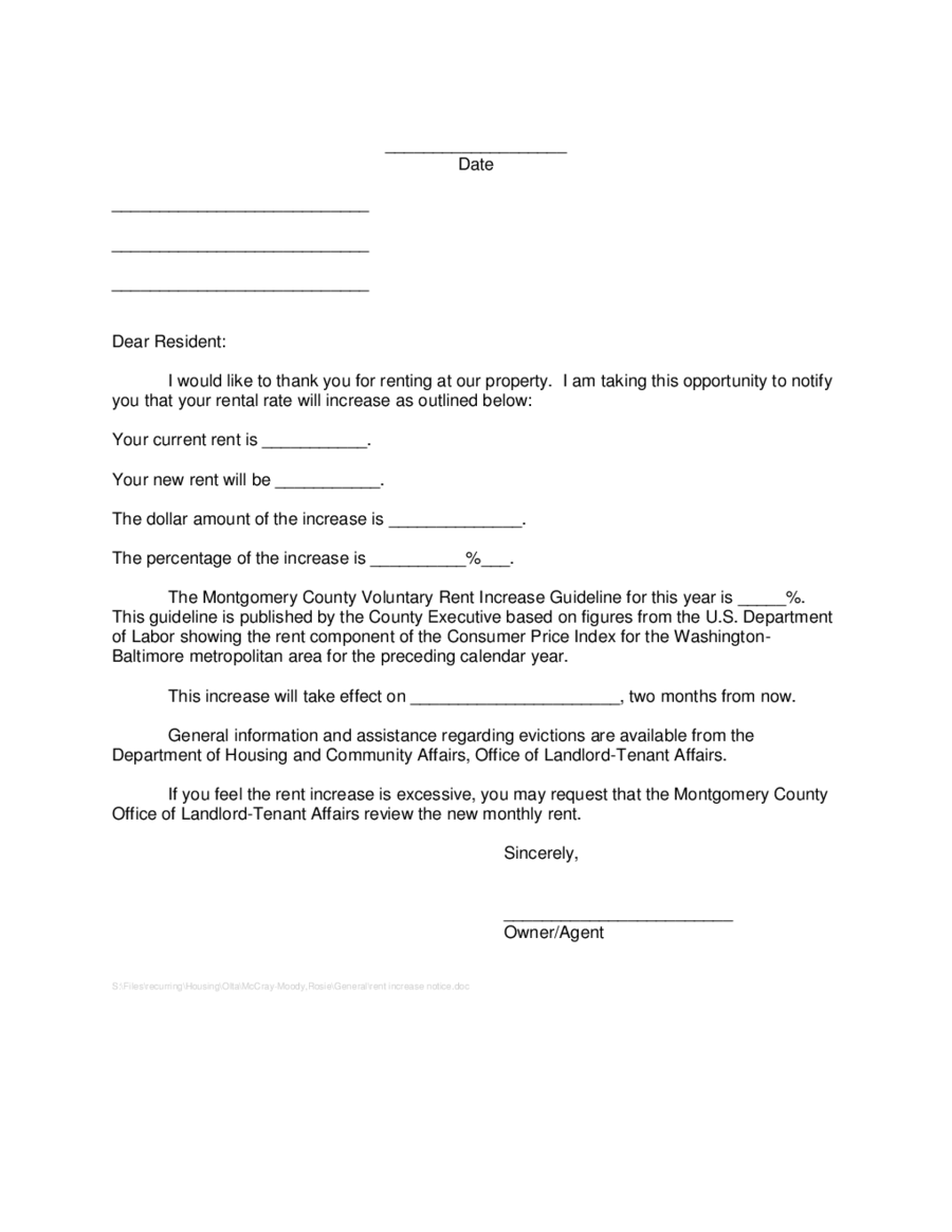 price increase letter pdf
