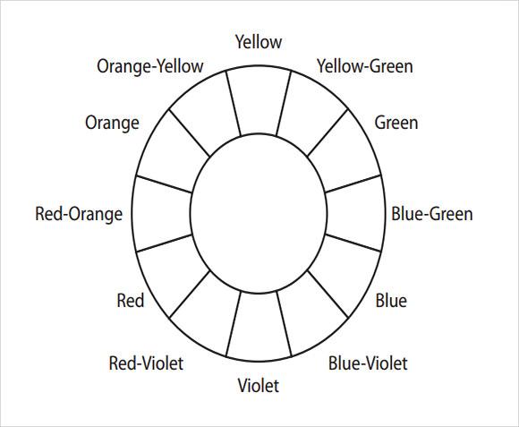 printable color wheel pdf