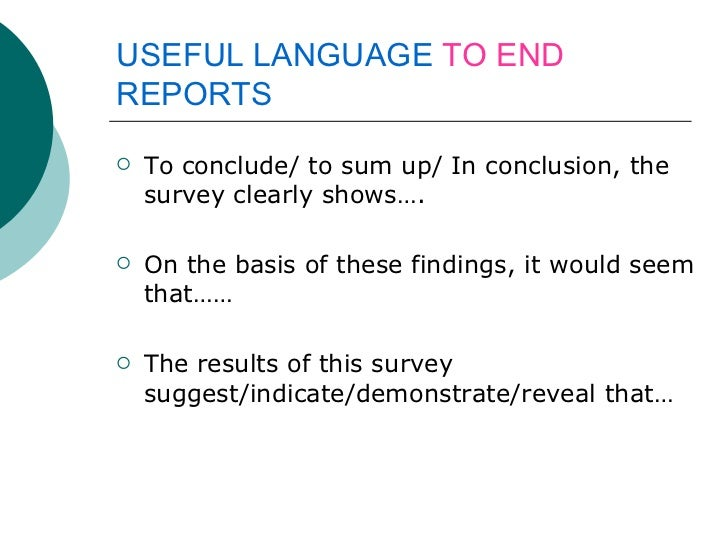 survey report writing sample for students